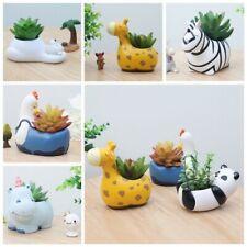 Cute Animal Ceramic Succulent Plant Flower Pot Planter Garden Office Desk Decor