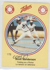1982 Zellers Baseball Pro Tips Montreal Expos #17B Scott Sanderson Card