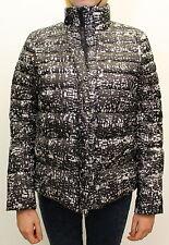 Piumino da donna nero bianco Deha cappotto casual moda manica lunga