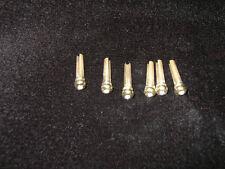 Bridge pins brass set of 6 parisian MOP aoblone