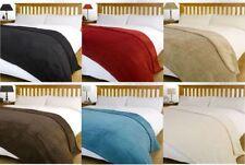 Large Size Super Soft Snug Fleece Blanket / Bed Sofa Throw Size - 140cm x 190cm
