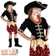 Bucaniere Pirata Tesoro Ragazza Costume bambini figlio ragazze Costume Libro + Cappello