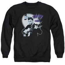Elvis Presley Sweatshirt Hillbilly Cat Black Pullover