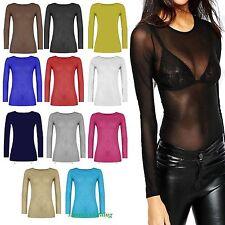 Femmes Sheer Mesh Manches Longues Dentelle Femmes Sexy voir à travers équipée Top Robe chemise