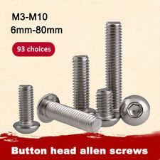 Acier Inoxydable Hexagonale Vis à métaux Tête Bombée inox M3-M10  Durable