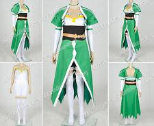 Sword Art Online ⅡGun Gale Online GGO Sylph Leafa Suguha Kirigaya Cosplay Dress