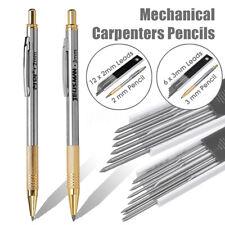 2mm/3mm Leads Mechanical Carpenters Pencils Builders Tradesman Clutch Pencils 🔥