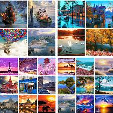 DIY Paint By Number Kit Digital Oil Painting Art Natural Four Seasons Scenery
