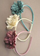 Tissu fleur UN SATIN Serre-tête fête bal