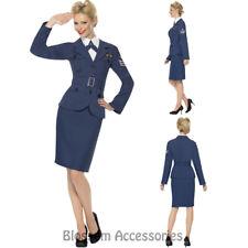 CL717 WW2 Air Force Womens Pilot World War 1940s Captain Fancy Dress Up Costume