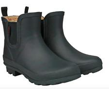 Chooka Women's Short Rain Boots Waterproof Ladies Anti Slip Rubber Black Ankle