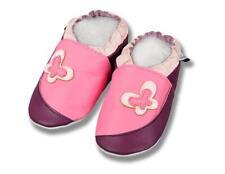 Zapatillas De Cuero Zapatos de Bebé Mariposa Rosa Púrpura