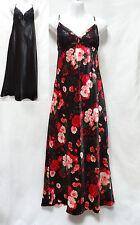 Ambrielle Women Sleepwear Satin Laced Cup Sleeveless Nightgown S M L XL XXL NEW