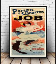 PAPIER A sigarette job: vecchi francesi la pubblicità poster riproduzione