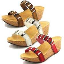 Sandali e scarpe con zeppa con tacco alto (8-11 cm) marrone per il ... 4bba7288602