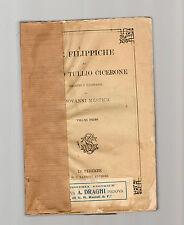 filippiche di marco tullio cicerone - volume primo  1877