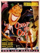 Coeur de coq Fernandel French 1947 movie poster print