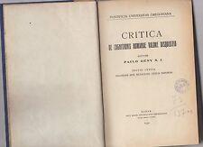critica de cognitionis humanae valore disquisito -  paulo geny s.j.  1932
