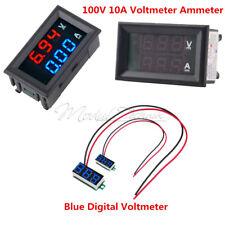 Voltmeter Ammeter DC 100V 10A Blue + Red LED Amp Dual Digital Volt Amp Meter MT