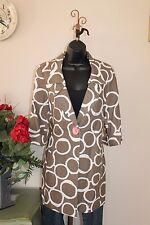 3 Sisters Jacket 3S958 S (2-4) Cafe Women's Long Dressy Coat USA Made 5182
