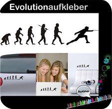 Fechten Degen Evolution Wandaufkleber Sticker Folie Wandtattoo Aufkleber W442