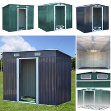 10x 8, 8x8, 6x8, 4x8ft Garden Outdoor Tool Metal Storage Shed Sliding Door Sheds