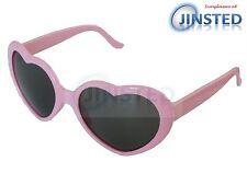 Pink Lolita Heart Shaped Sunglasses Girls Womens Teenager Small Adult TH001