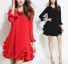 Vestito Mini Donna Autunno Balza - Woman Autumn Mini Frill Dress 110333