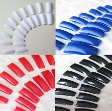 20 künstliche Fingernägel - je 2 pro Nagel Größe blau weiß rot violett weiß klar