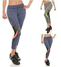 Ladies Pants Cropped Sport Leggings Running Fitness Gym Trousers