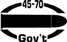 45-70 Govt gun pistol Ammunition Bullet exterior oval decal sticker car or wall