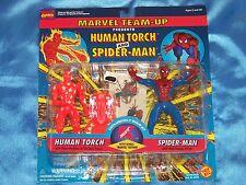 """HUMAN TORCH & SPIDER-MAN: 5"""" Action Figure Set, K-MART Exclusive, TOY BIZ 1995"""