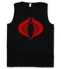 COBRA logo Tank Top-comandante simbolo Sehbehinderte GI JOE Action Force Movie Fun