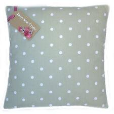 Designer Clarke and Clarke Dotty Sage Green fabric Cushion Cover