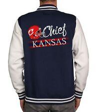 Herren College Jacke - Chief - Kansas - American Football Team City Sports Logo
