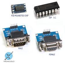 MAX3232 RS232 vers TTL Serial Port Converter Module mâle ou femelle DB9 D-Sub