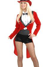Adult's Womens Sexy Circus Sweetie Red Tuxedo Ringmaster Costume