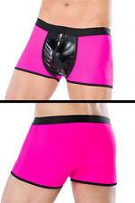 Boxershort pink mit Reißverschluss und Wetlook Gr. S/M bis 4XL/5XL