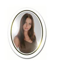 médaillons photo funéraire  porcelaine couleur ovale pour portrait