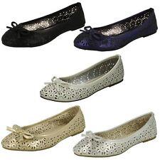 Ladies Spot On Ballerina Shoes