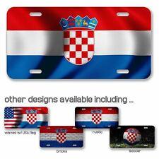 High Grade Aluminum License Plate - Flag of Croatia (Croat) - Many Options