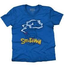 Smokemon Pokemon Shirt | Weed 420 Pikachu Marijuana Pot Bong V-Neck T Shirt