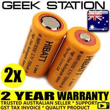2x HIGH DRAIN IMR 18350 700mAh 3.7V Rechargeable Lithium Battery Li-ion 14a