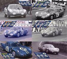 Calcas Alpine A210 Le Mans 1966 1:32 1:24 1:43 1:18 64 87 slot decals