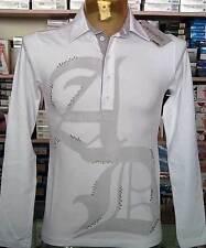 Polo hombre Abdu manga larga de algodón con estampado e espárragos art 13010075