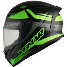 80659aec Vemar Ghibli Base Full Face Motorcycle Motorbike Helmet - Matt Black Fluo  Green