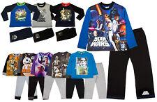 Boys Star Wars Pyjamas Childrens Long Pjs Set Kids Nightwear Size UK 4-10 Years