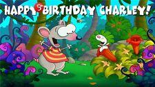 Toopy and Binoo Birthday Banner Personalized Custom Design Indoor Outdoor Party