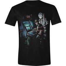 Freddy Vs Jason Arcade Licensed Black Tee Character T Shirt Friday the 13th