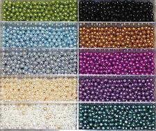 Kristallglasperlen mit Perlenschimmer in tollen Faben 6mm Packung á 30 Perlen